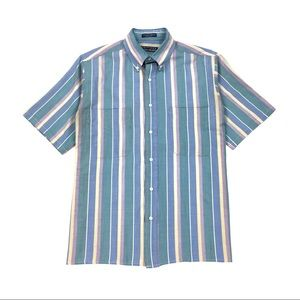 Vintage 90s Unisex Striped Sorbet Button Up Shirt